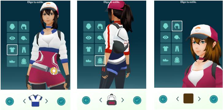 personaliza avatar pokemon go